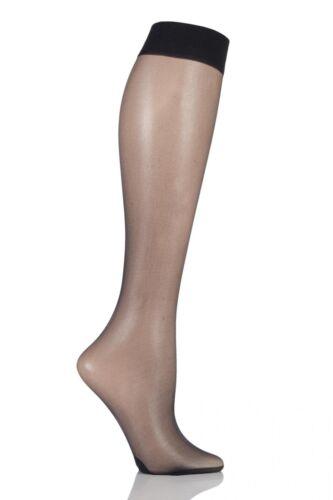 Femmes 1 paire pretty polly sweet étapes 10 denier sheer knee high socks