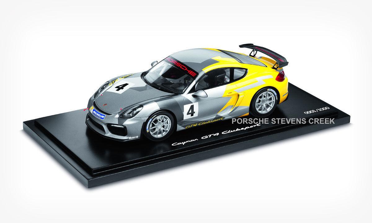 Porsche Cayman GT4 Clubsport Diecast Modelo Coche Escala 1:18 Edición Limitada
