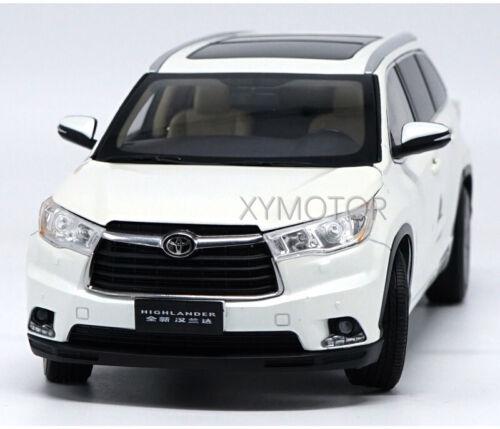 1//18 Toyota Highlander 2015 Diecast Metal Car SUV Model Toys Boy Girl Gift Black