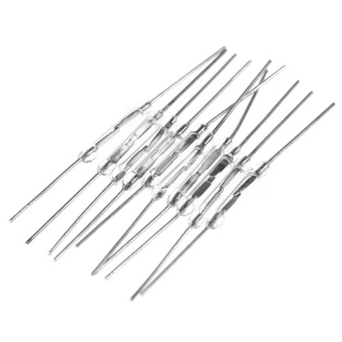 10Pcs 14mm Glass Magnetic Induction Reed Switch MagSwitch Normally Open NO l Vh