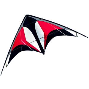 Steuerleinen CIM Lenkdrachen Power Hawk Red Black Drachen 155cmx75cm inkl