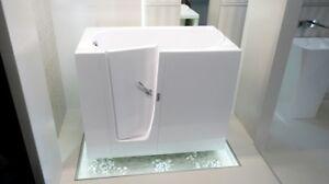 Budoplast Elegance Sitzbadewanne Seniorenbadewanne Tür 115x68x90 Links Rechteck Taille Und Sehnen StäRken Heimwerker Bad & Küche