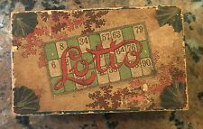 """19Th Century Lotto Game 24 Cards 108 Pieces 6.75"""" X 4 1/16"""" X 2 9/16"""""""