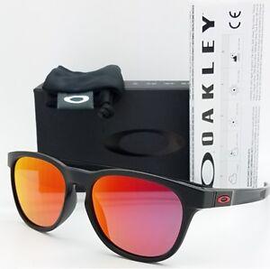 4ae729db875 Image is loading NEW-Oakley-Stringer-sunglasses-Matte-Black-Ruby-Iridium-