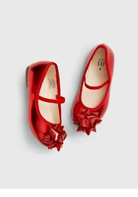 BABY GAP GIRL RED BOW BALLET FLATS