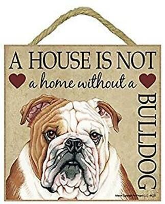 English Bulldog Sign Wooden Plaque Gift//Present