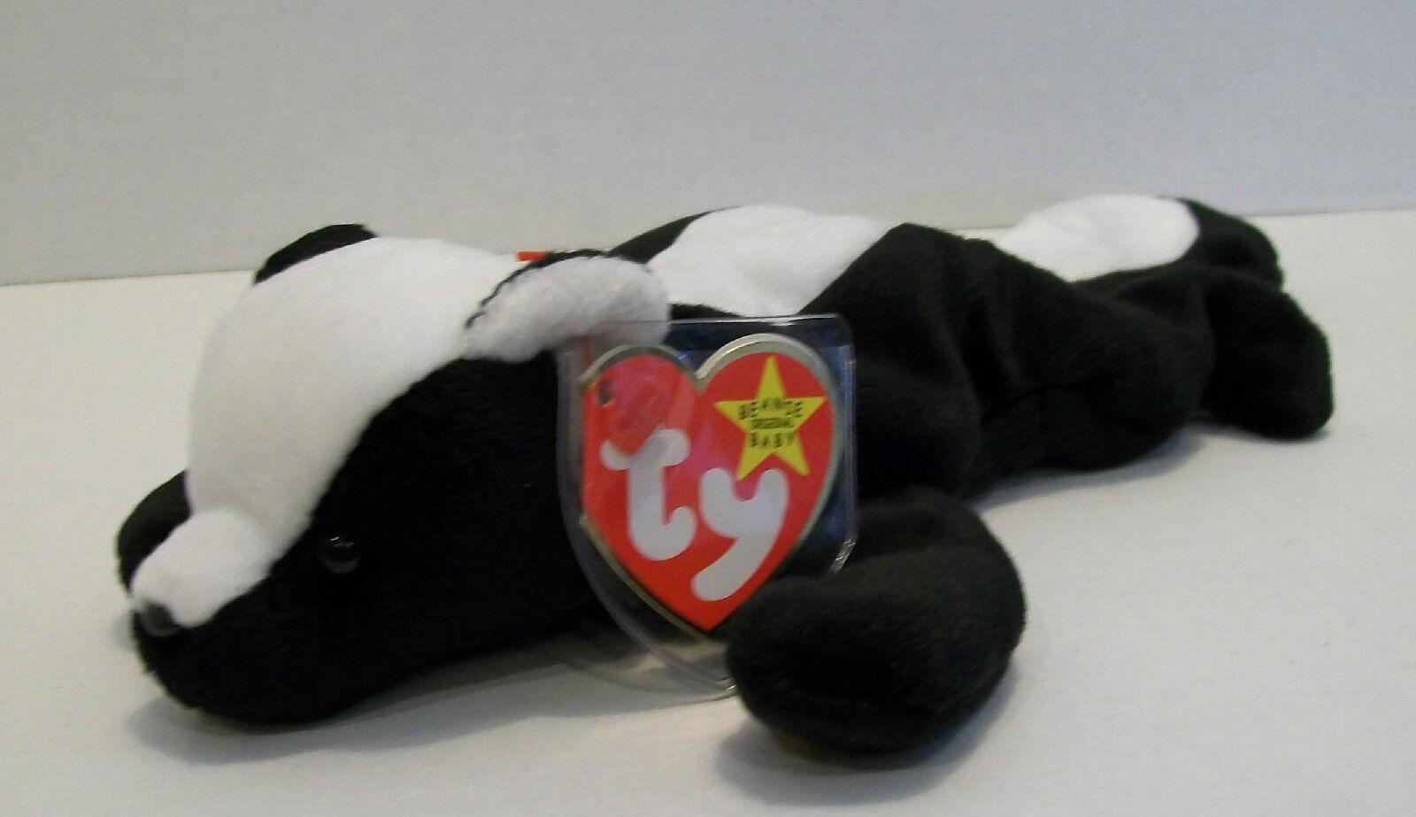 TY Beanie Baby STINKY STINKY STINKY THE SKUNK Retired First Edition Beanbag Plush Stuffed Toy 49cc8a