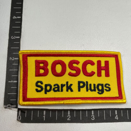 Car Auto Parts Related 00DS Vtg BOSCH SPARK PLUGS Advertising Patch