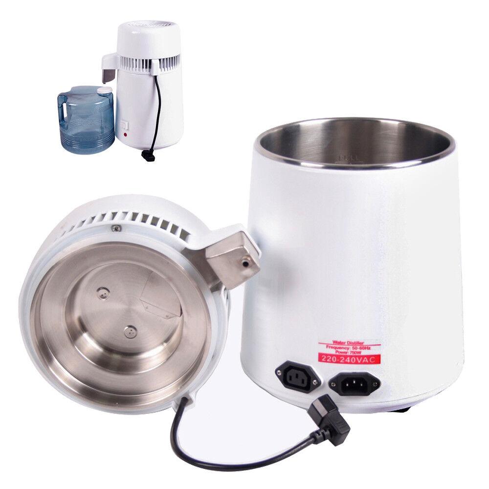 Home Dental Medical 4L Water Pure Distiller Purifier Filter Stainless Steel USA