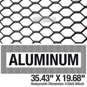 Black-Honeycomb-Hex-Mesh-Aluminum-Grille-Fog-Custom-Kit-35-034-x19-034-For-All-Vehicle