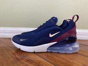 Nike Women S Air Max 270 Blue Void Crimson Tint Ah6789 402 Size 11