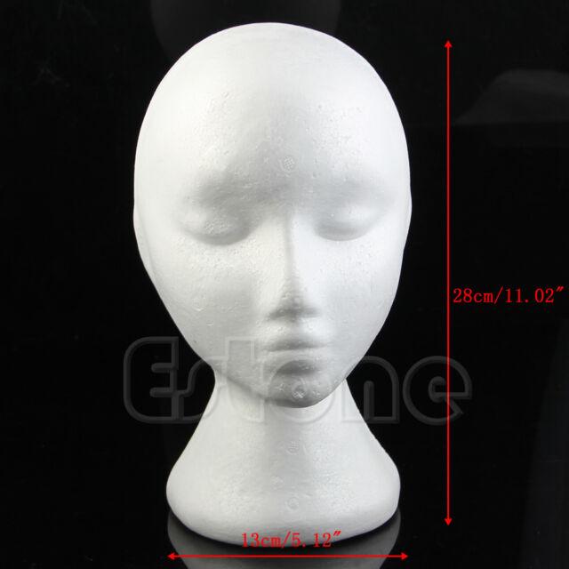 Styrofoam Foam Mannequin Female Head Stand Model Display Glasses Wig Hair Hat
