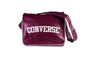Image is loading Converse-Flap-Reporter-Heritage-PU-Bag-Maroon ea1bd0f1c6236