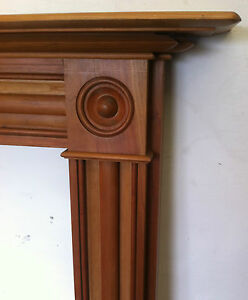 Image Is Loading Reclaimed Antique Georgian Style Cherry Wooden Fireplace Surround