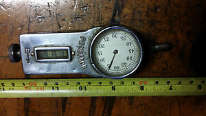Antique collectible spindle rotating Revolution counter: PROBATOR RPM reader.