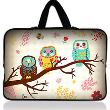"15"" 15.6"" Cute OWL Laptop Case Bag Carrying Sleeve For HP DELL Toshiba ASUS Sony"
