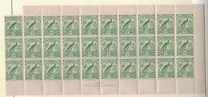 1931-Australia-Mandate-New-Guinea-SG150-1d-Green-Sheet-30-MNH-Separated