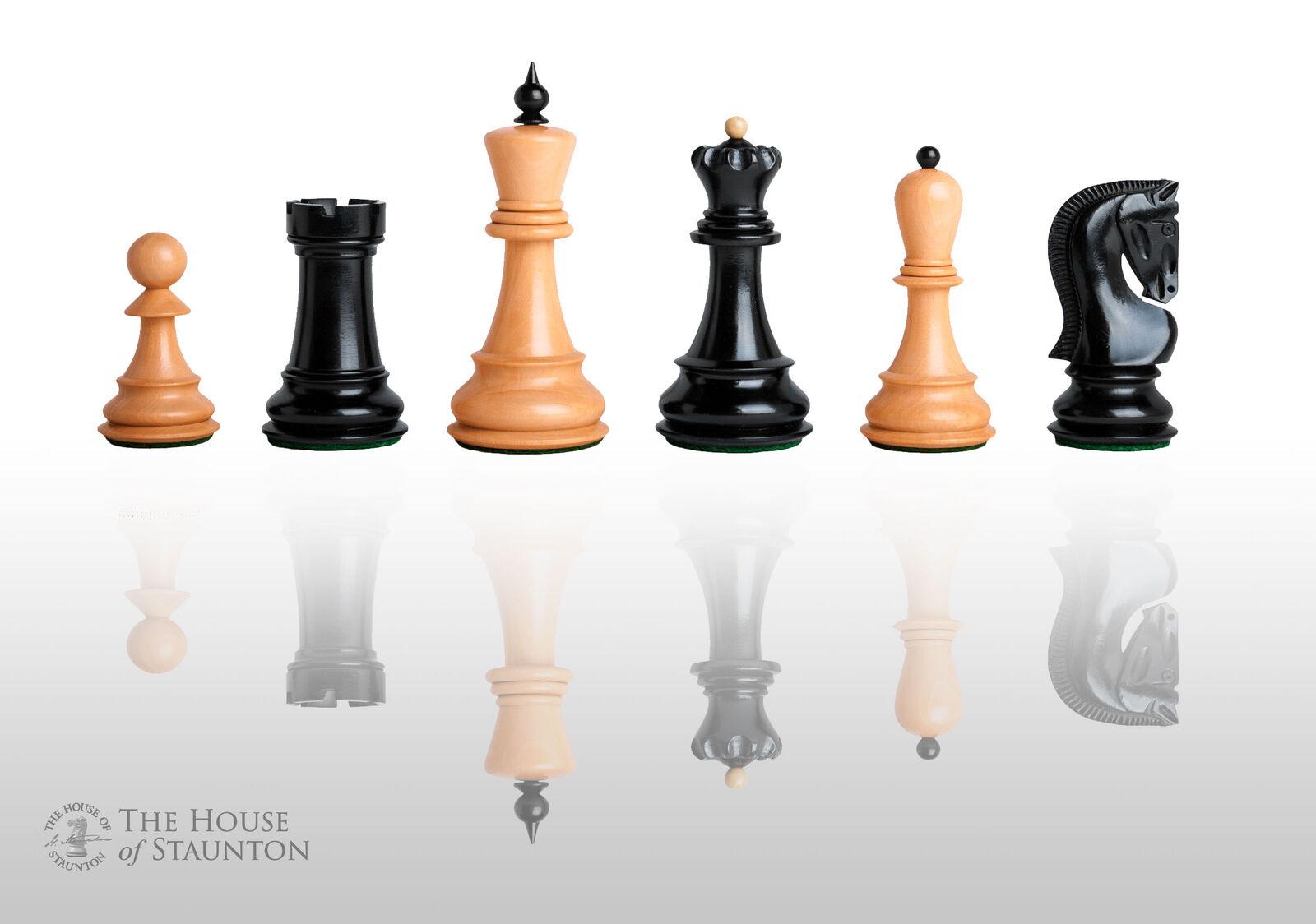 USCF Sales The Zagreb '59 Chess Set - Pieces Only - 3.875  King - Ebonized Boxwo