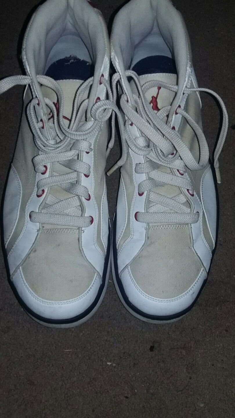 Nike Air Jordan MCMLXXVIII High Tops Basketball Shoes red white and blue 2009