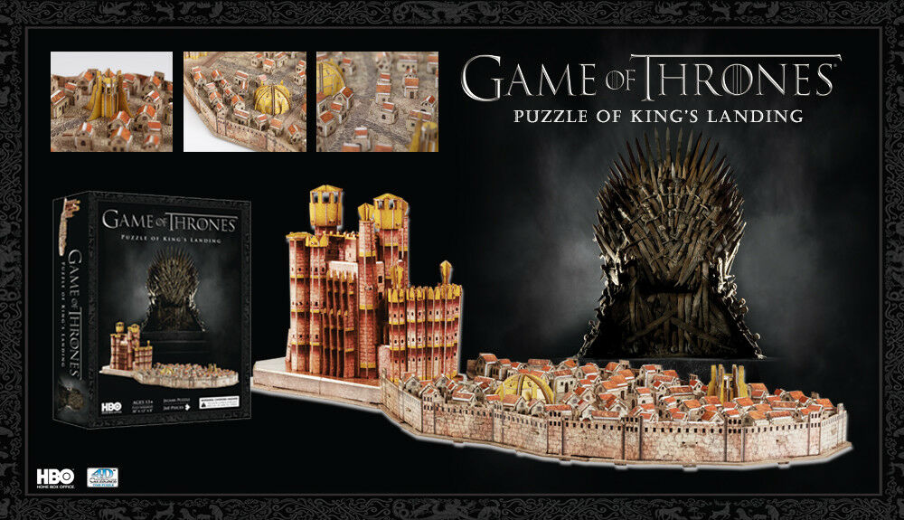 4D CITYSCPE spel of Thrones King's Landing 260pcs 3D PUZLE NY
