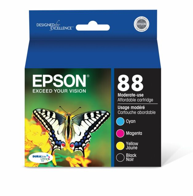 Epson T088120-BCS DURABrite Ultra Black and Color Combo Pack Moderate Capacit