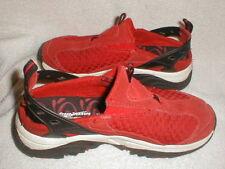 Cross Trekkers Womens Red Suede Slingback Strap Mule Sneaker Shoe Size 6