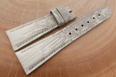 Jewelry & Watches Wristwatch Bands 23mm/18mm White Genuine Lizard Skin Leather Watch Strap Band