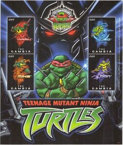 Gambia 2009 Teenage Ninja Mutant Turtles/Animation/Cartoons/TV 4v m/s (n44035)
