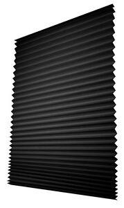rollo jalousie plissee verdunkelung schlafzimmer ohne bohren lichtschutz schwarz ebay
