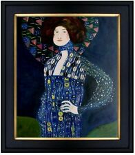 Framed, Gustav Klimt Emile Floge Repro, Hand painted Oil Painting 20x24in