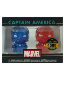 Funko-Hikari-XS-Captain-America-Figure-Set-Blue-amp-Red-Marvel-Limited-1000