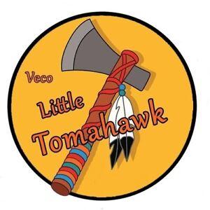 LITTLE TOMAHAWK STICKERS x 4 - VINTAGE - CONTROL LINE PLANE - DECAL
