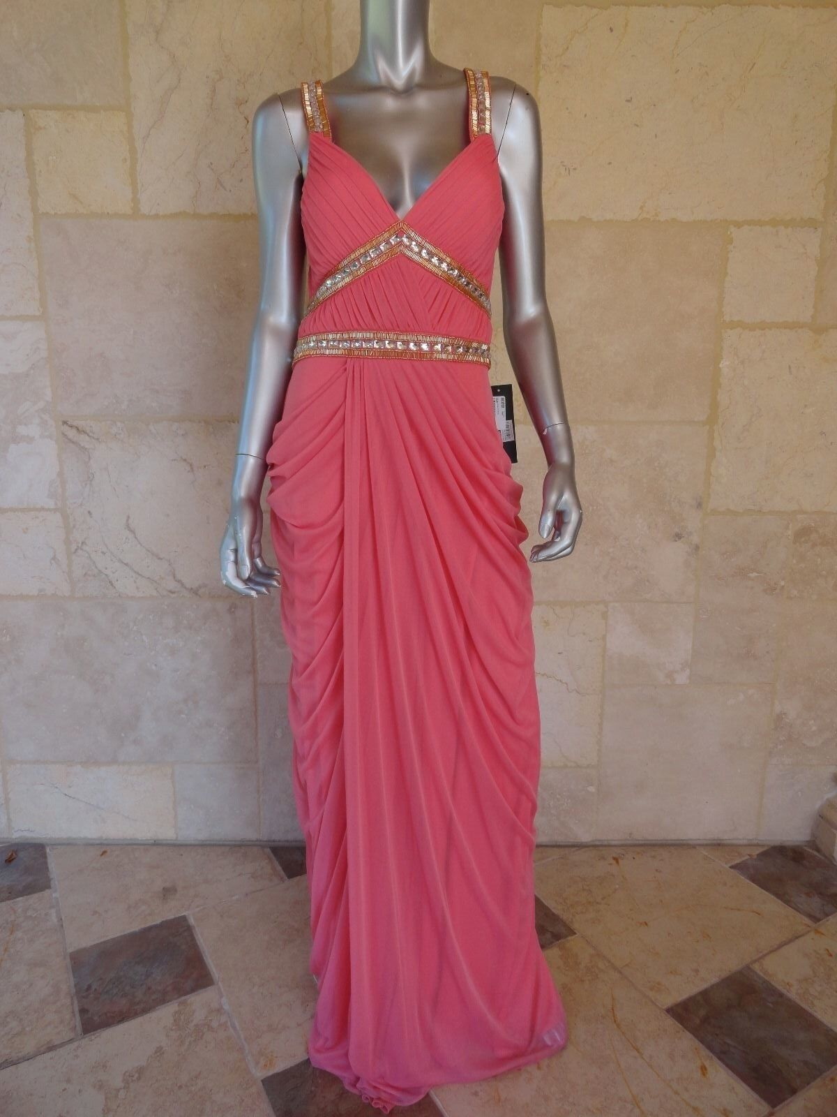 Boutique Rosa Tricot Sleeveless Full Length Evening Gown Dress Sz 10 NWT