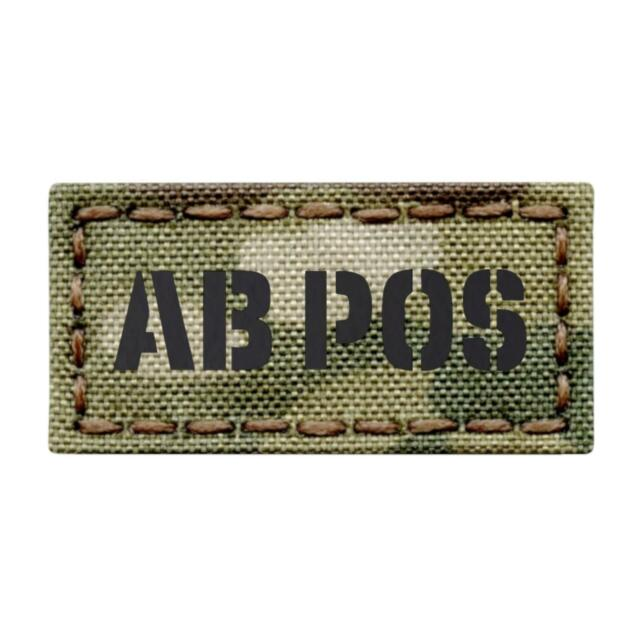Blood Type 2x2 Military//Morale Patch Hook Backing Version 1