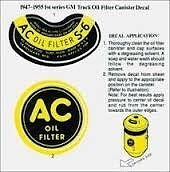 ac delco decal for canister oil filter housing high. Black Bedroom Furniture Sets. Home Design Ideas