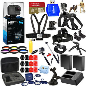 GoPro HERO5 Black All In 1 MEGA Accessory KIT Bundle For All Occasions!! NEW!!