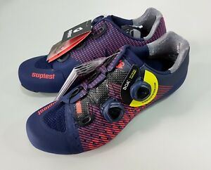 on wholesale attractive price discount Details about Suplest Edge/3 Pro Road Carbon Bicycle Cycling Shoes Size  43.5 Navy/Coral