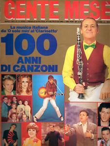 GENTE-MESE-1986-LA-MUSICA-ITALIAN-100-ANNI-DI-CANZONI-OLTRE-120-PAGINE-FOTO