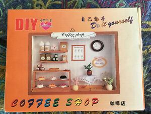 Lovely House Diy Miniature Coffee Shop Kit Taiwan No English Instructions New Ebay