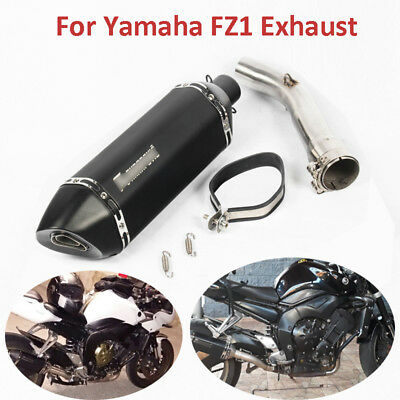 For Yamaha FZ1 Motorcycle Exhaust System Mid Link Tube Slip On FZ1 Exhaust Pipe