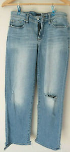 TORN-and-DISTRESSED-Vintage-LUCKY-BRAND-WOMEN-039-S-Blue-Jeans-Denim-6-Cut