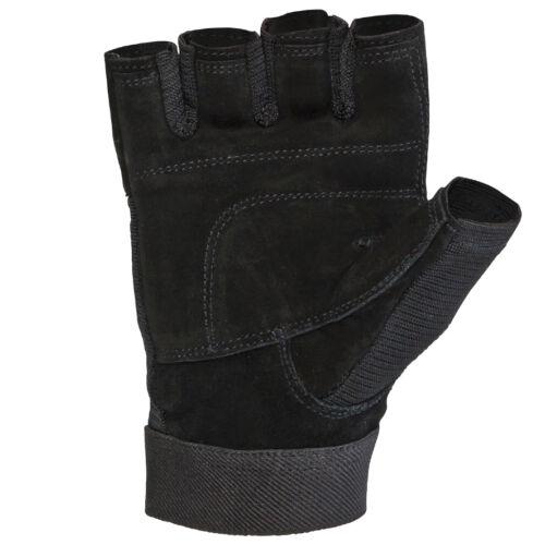 Trainingshandschuhe Leder schwarz Größe S-XXL Fitnesshandschuhe NEU