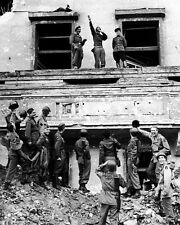 Allied Soldiers Mocking Hitler Reich Chancellery 8x10 World War II WW2 Photo 541