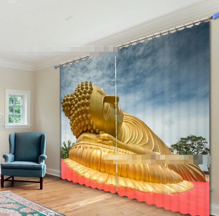 3d bugia Buddha 354 blocco foto sipario pressione sipario tende tessuto finestra de