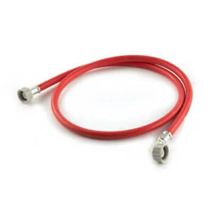1.5m Red WASHING MACHINE DISHWASHER Inlet Pipe Water Feed FILL HOSE Hot Fil