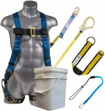 Palmer Safety 3d Fall Protection Combo Kit I Full Body Harness Amp 6 Shock