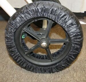 Black-Elastic-Wheel-Tire-Cover-Protector-For-Recaro-Baby-Strollers-10-12-inch
