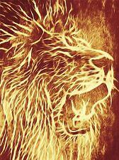 Pintura Abstracta Animal Lion Roar Piel Mane de arte cartel impresión Casa imagen bb222a