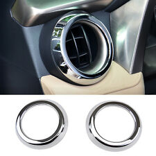 Fit For 13-17 Toyota RAV4 Chrome Front Dashboard Air Vent Cover Trim Garnish 2pc