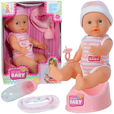 Simba New Born Baby Kleine Puppe mit Funktionen 30 cm (Sortiert)